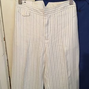 Gap Trouser - 4R Linen NWT cream /blk stripe